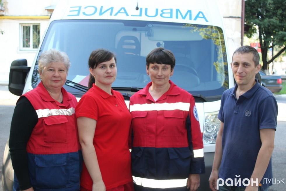 Працівники бригади невідкладної медичної допомоги №5