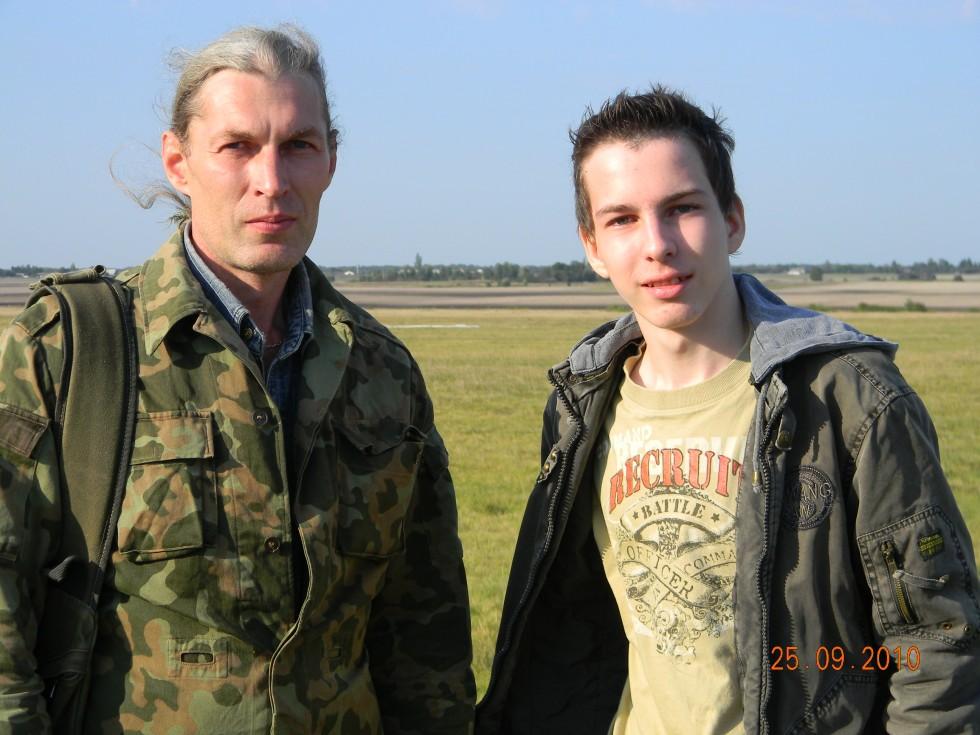 Олег разом з сином Артуром