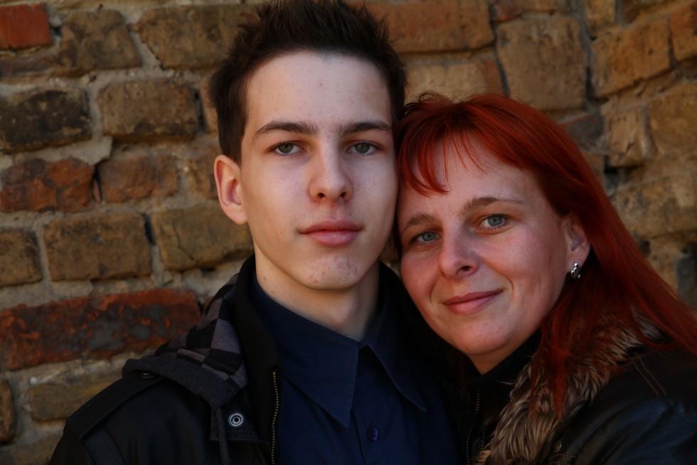 Артур разом з мамою