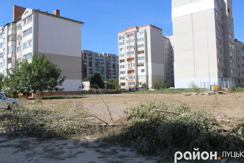 Мешканці думають, що робити з розчищеною ділянкою