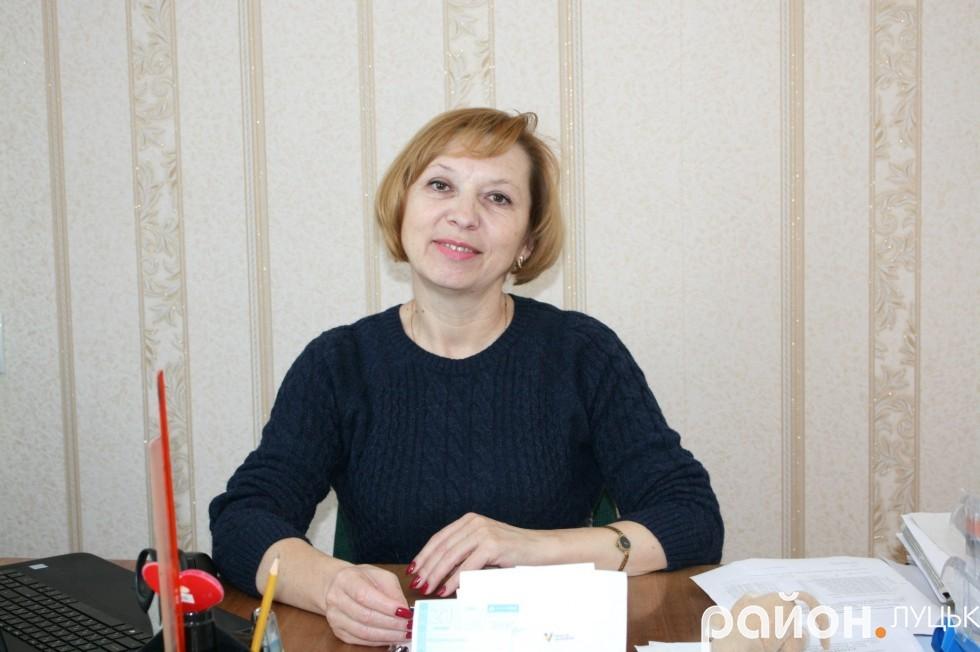 Голова Романівської сільради Галина Назарчук