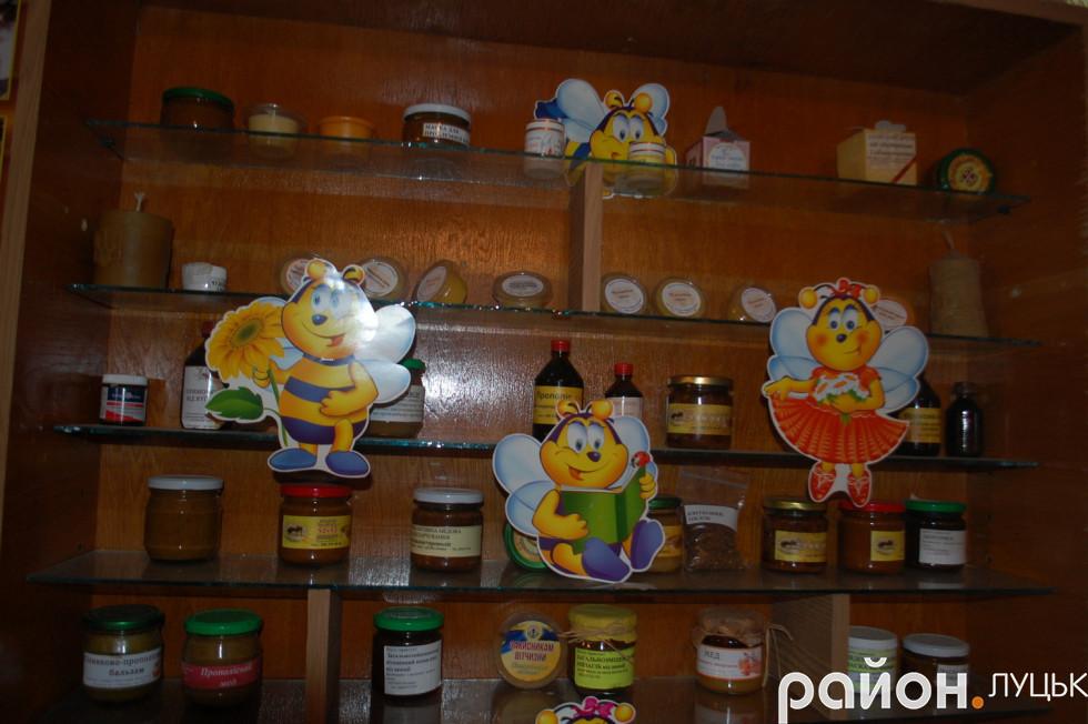 Медові мазі, які знаходяться в музеї
