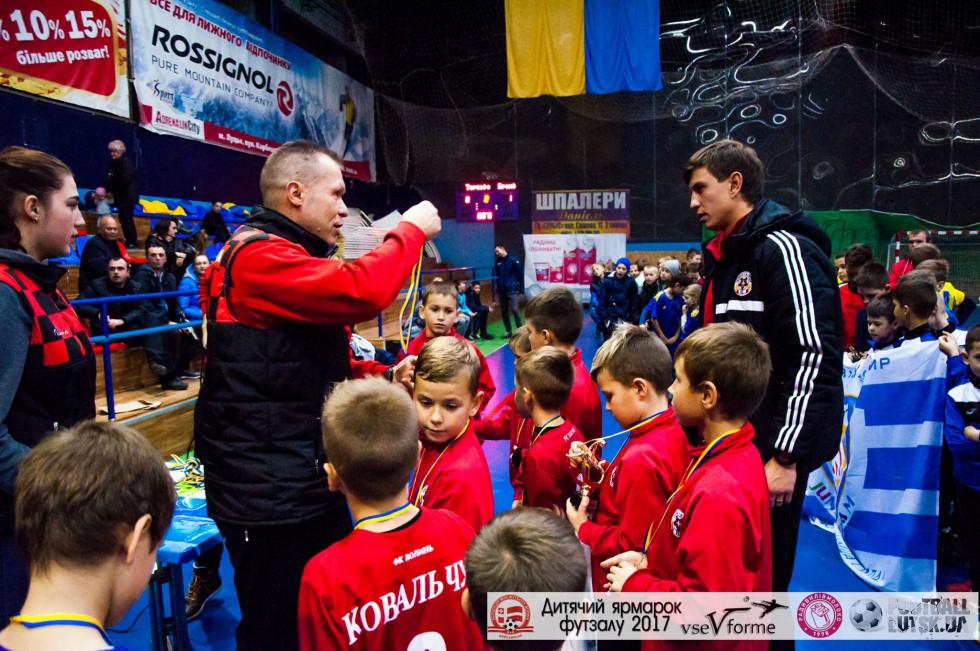 Нагородження дитячої команди «Волині» та молодого тренера Олександра Ярмощука