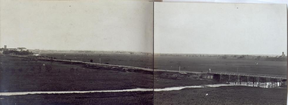 Гнідавська дамба на фото 1915 року. Зображення з Австрійської національної бібліотеки