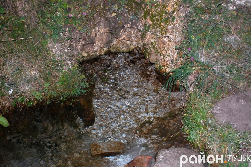 Місце, де беруть воду з джерела «Безодня»