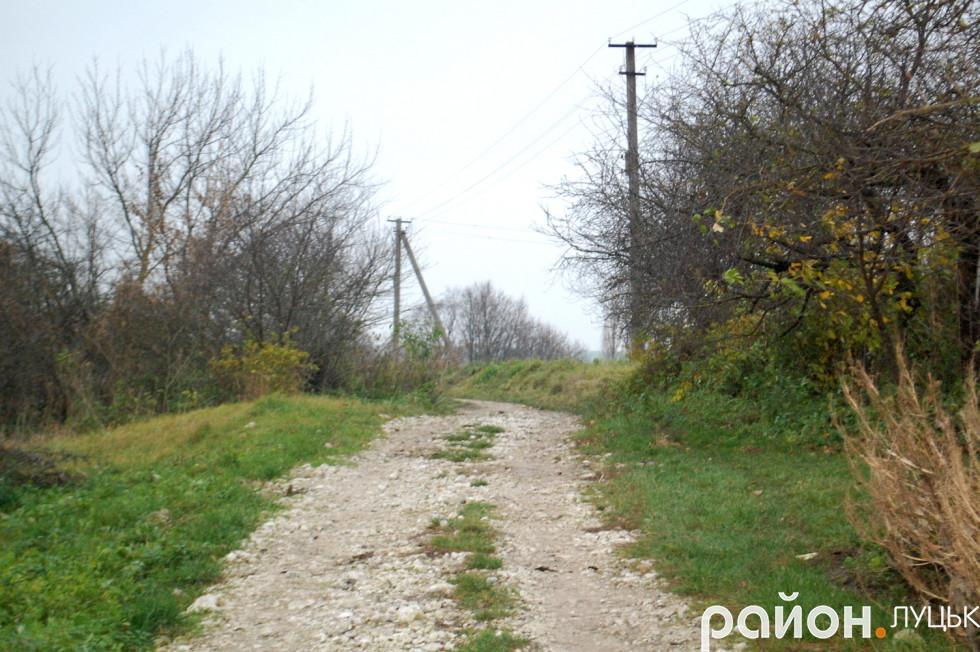 Дорога у селі Цеперів у жахливому стані