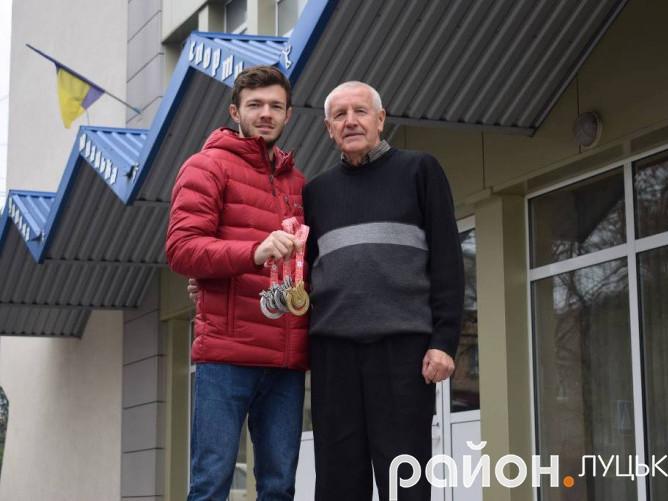Дмитро Вишинський та його тренер - В'ячеслав Киричук