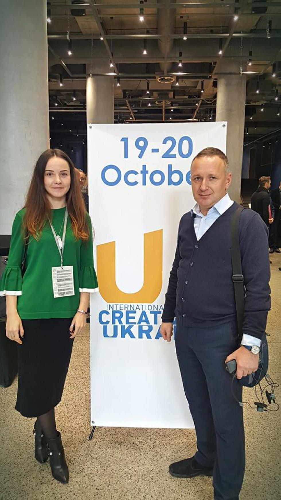 Юлія на International Forum CREATIVE UKRAINE