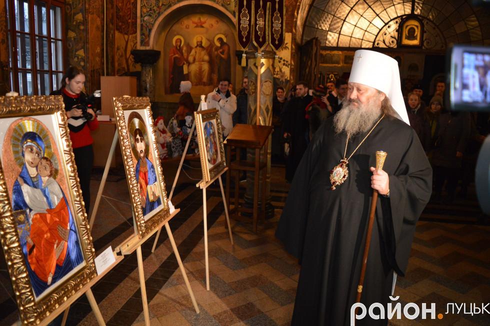 Митрополит Павло освятив вироби луцької майстрині