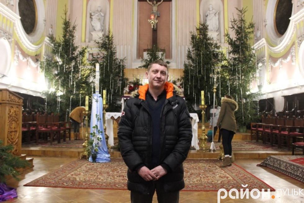 Настоятель кафедрального костелу святих Петра і Павла, отець Павло Хом'як