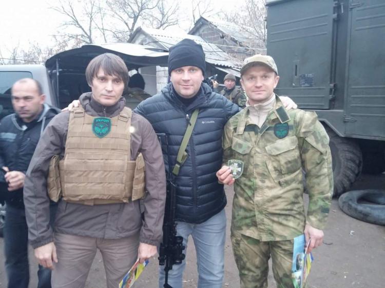 Денис П'ятигорець з Степаном Івахівим та Ігорем Єремеєвим