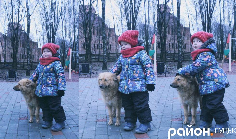 Мілана разом із своєю собакою Алісою