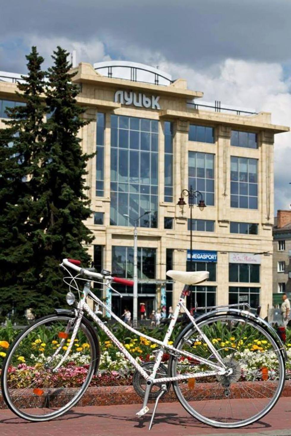 Відомий у Луцьку вкрадений велосипед активістки