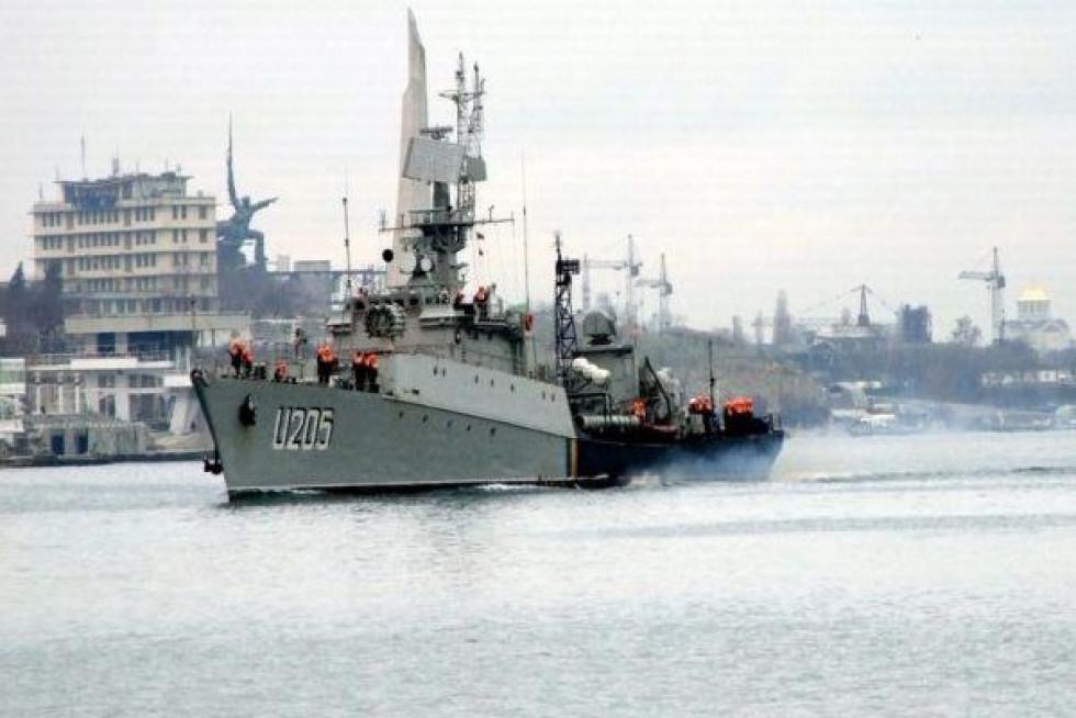 Один із перших кораблів ВМС України