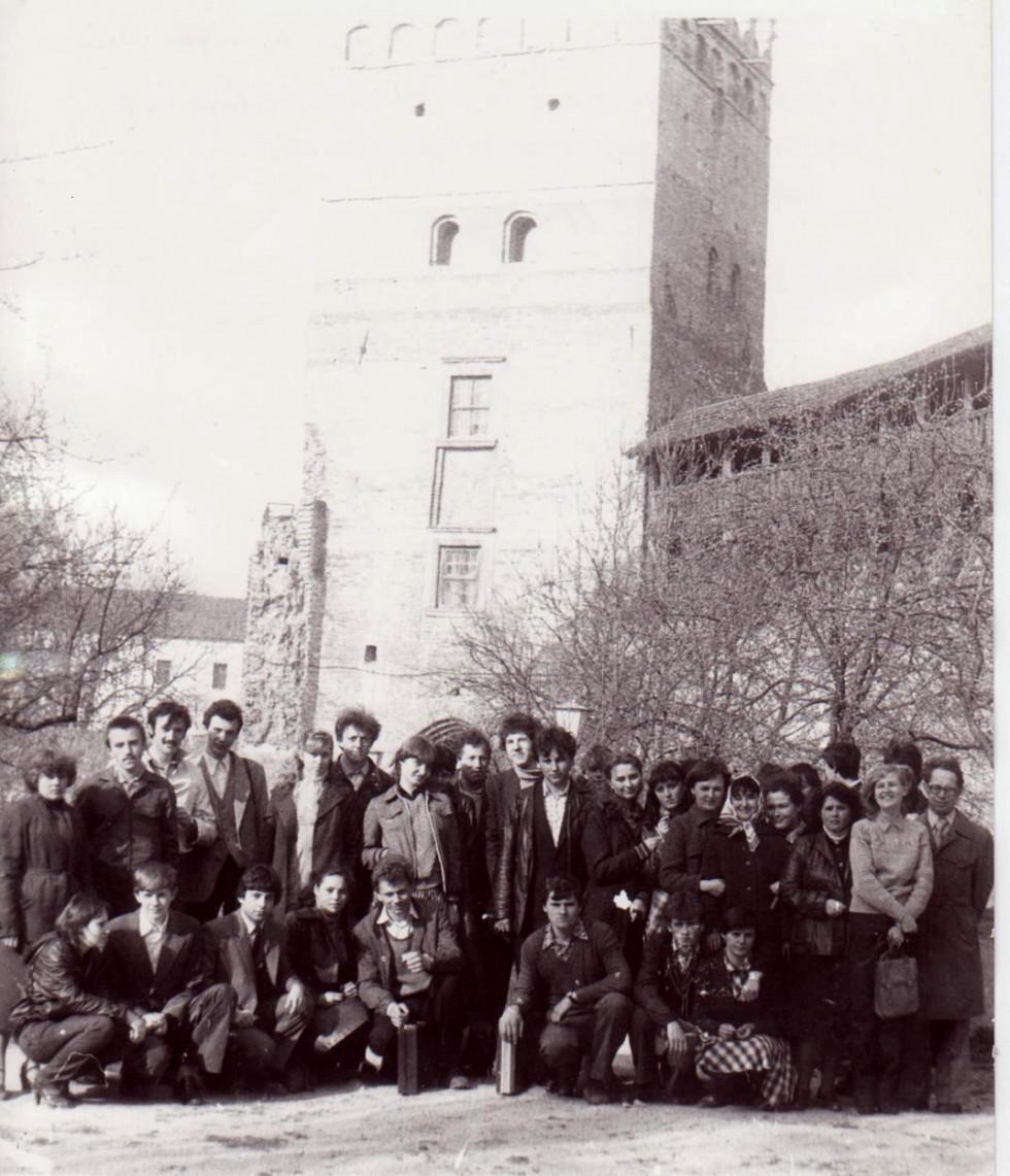 Зустріч студентів істориків з Луцька і Каменця-Подільського. Крайній з права куратор Геннадій Бондаренко, квітень 1983 р.