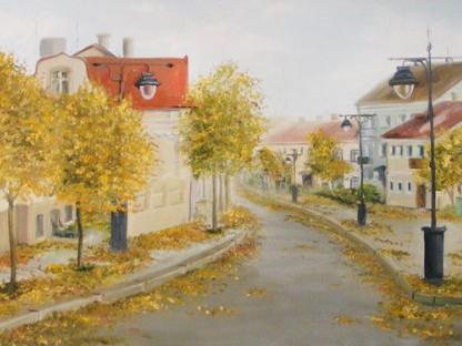 Фрагмент картини «Осінь в старому Луцьку»