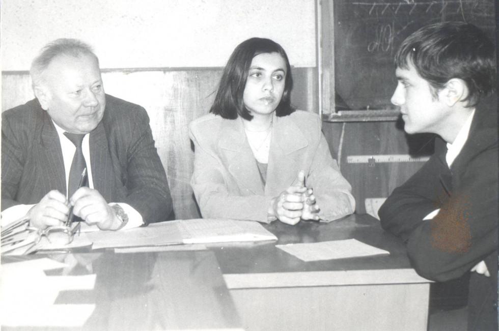 Богдан Заброварний складає екзамен на історичному факультеті ЛДПІ.