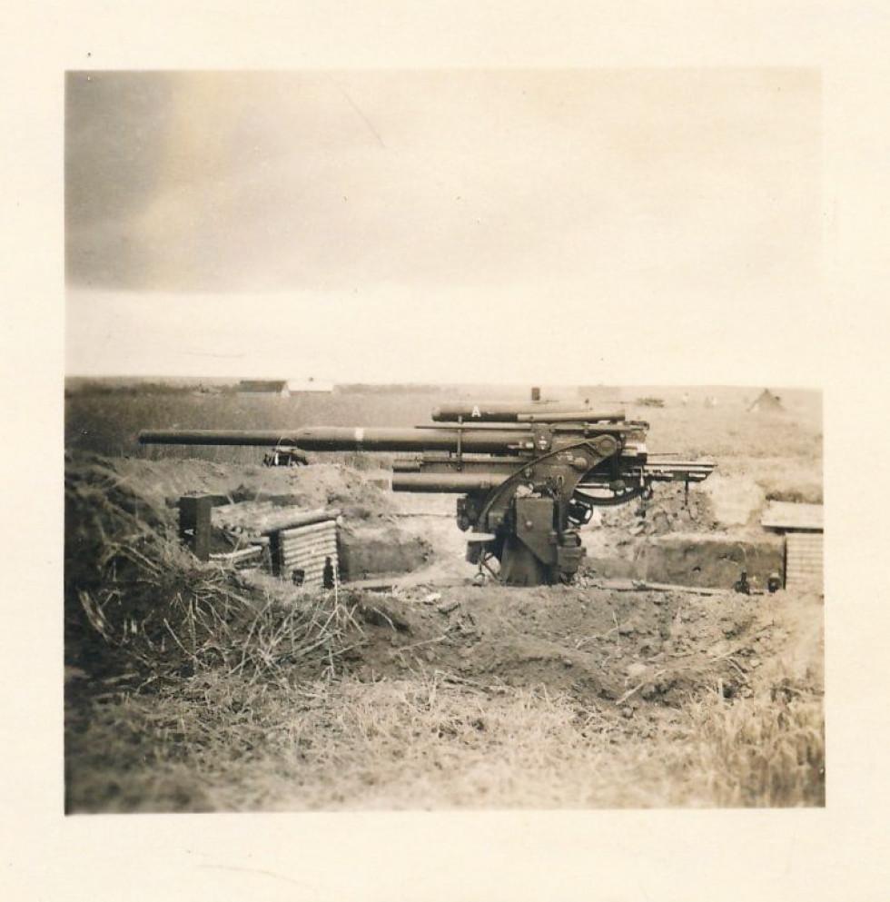 Німецька гармата на позиції