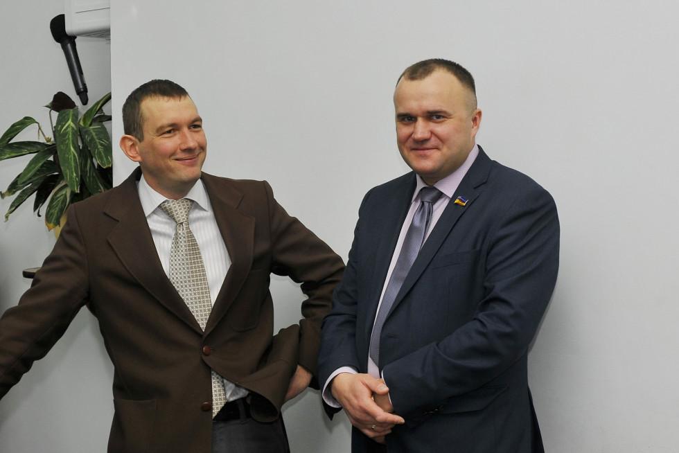 Петро Нестерук і екс-заступник міського голови Юрій Моклиця