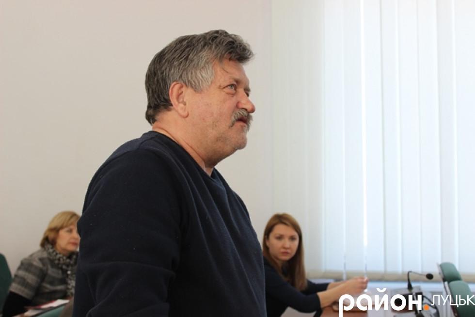 Володимир Марчук, очільник Спілки художників міста