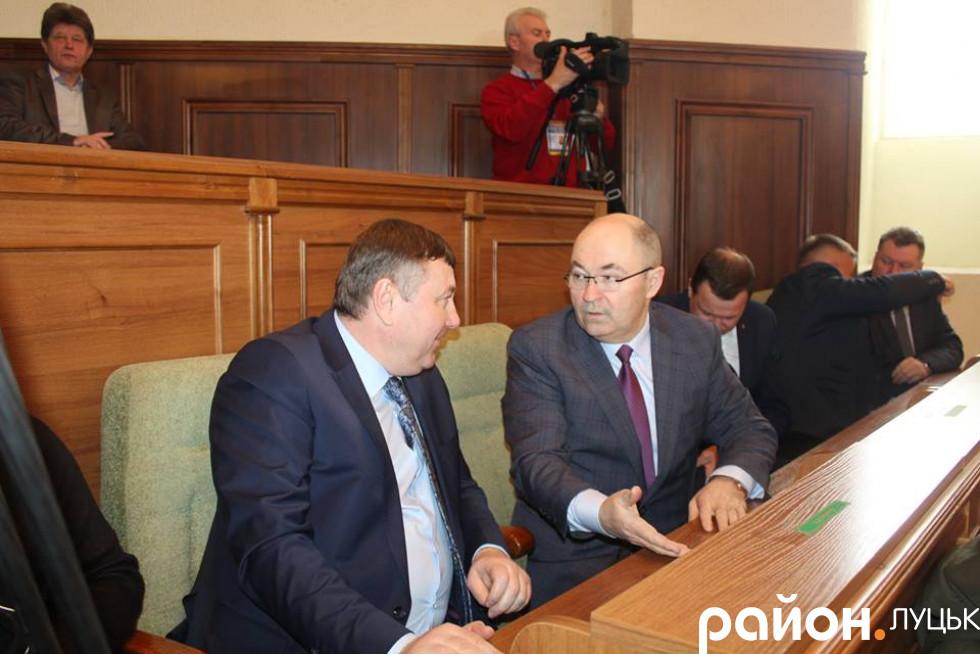 Депутати Волиньради Володимир Бондар і Віталій Заремба