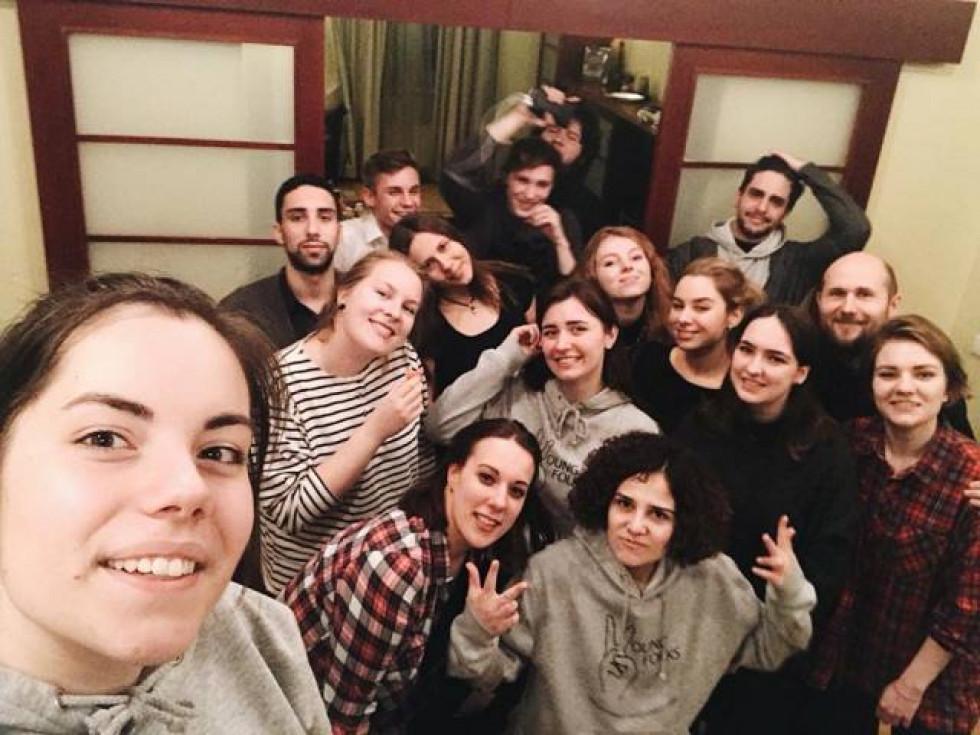Студентка Ірина Гоюк в компанії молоді з усього світу