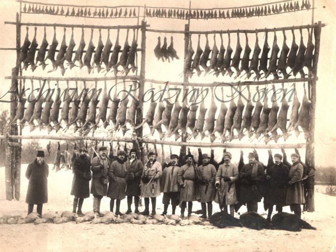 Фото мисливської здобичі біля Луцька в 1914 році