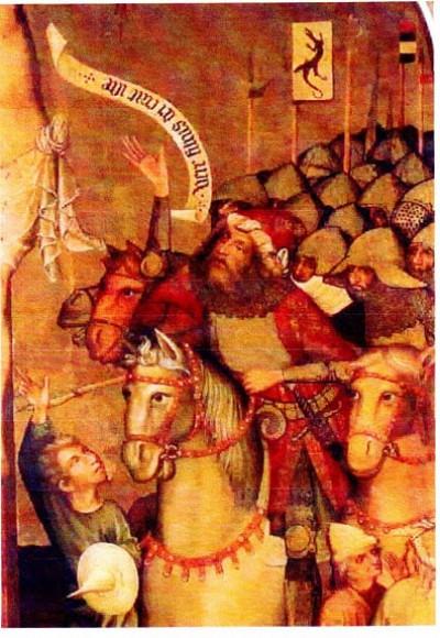 Імператор Сигізмунд під знаменом із зображенням дракона