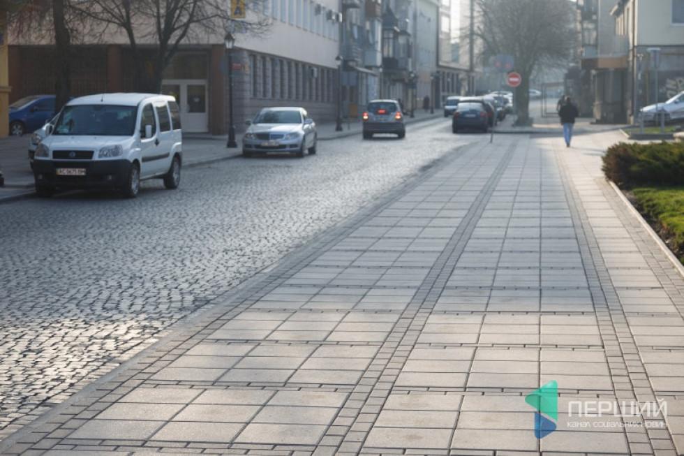 Вулиця Кривий Вал у Луцьку після реконструкції, 2017 рік