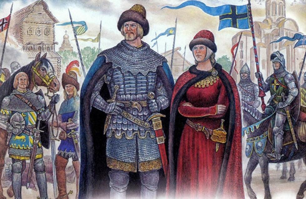 Вітовт та його дружинна Анна