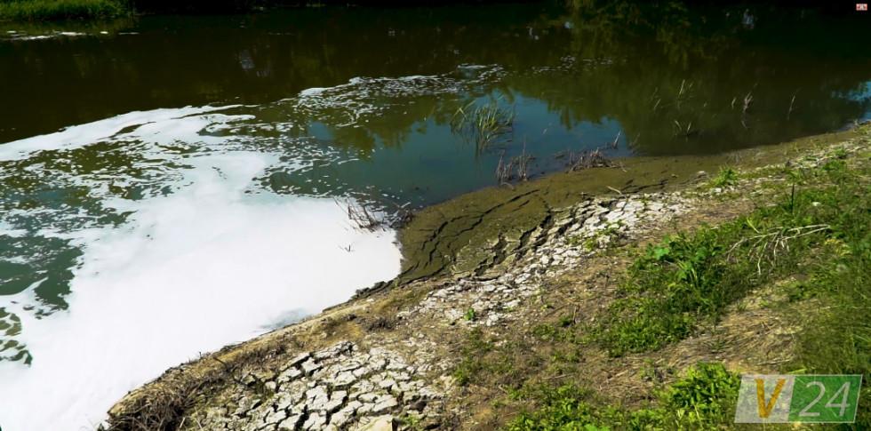 Мул, який осідає від каналізаційних стоків, сушать на полях у Липлянах. Запах - теж не із найкращих