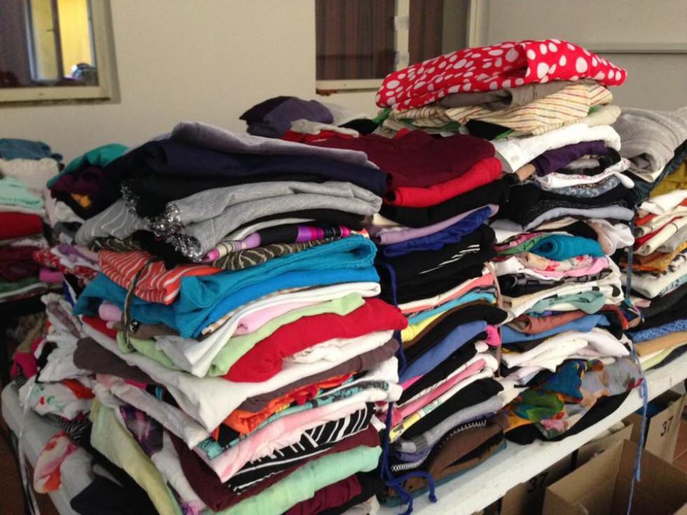 Наразі весь одяг знаходиться у ЦНАПі