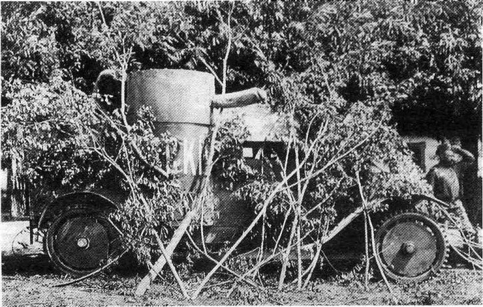 Замаскований броньований автомобіль, Перша світова війна