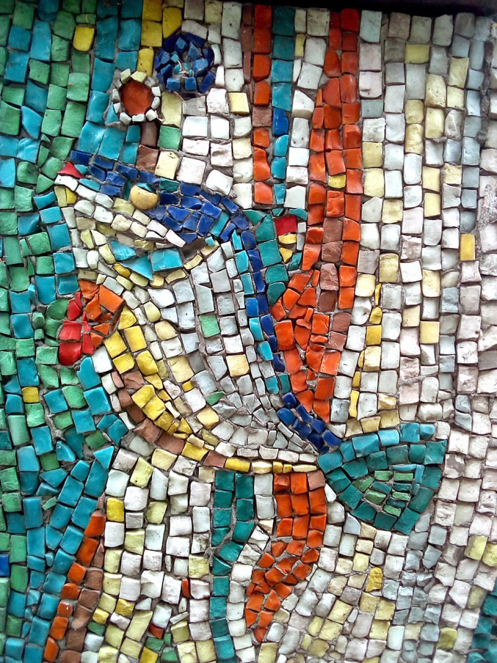 Мозаїка на вулиці Ковельській. Микола Куценко, Володимир Марчук, 1984