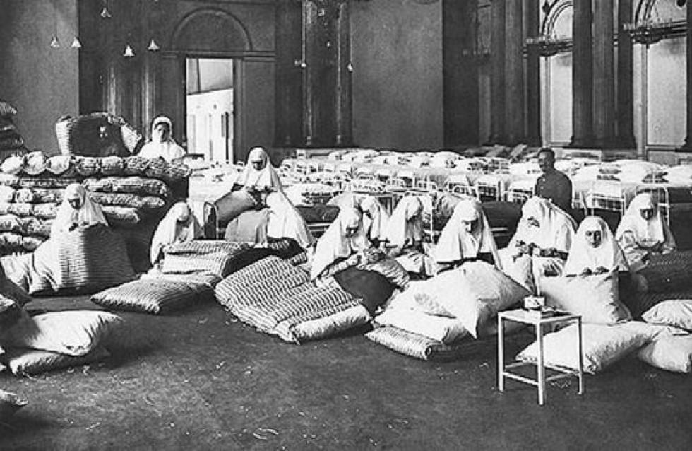 Сестри милосердя у госпіталі