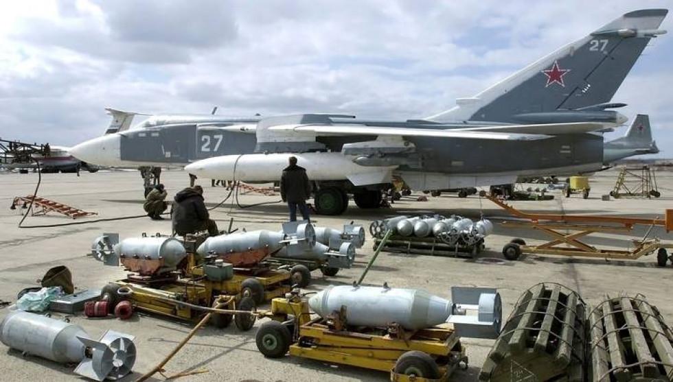 Літак Су-24 з атомними бомбами. Фото ілюстративне