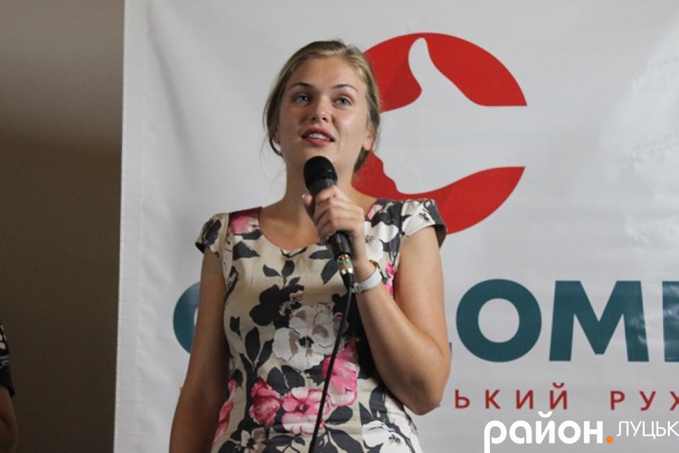 Кураторка проекту «Школа свідомого громадянина» Христина Назар