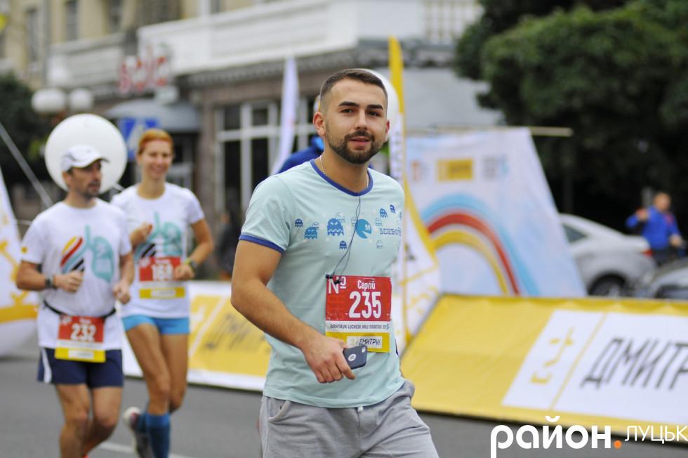 Учасник півмарафону Сергій Король