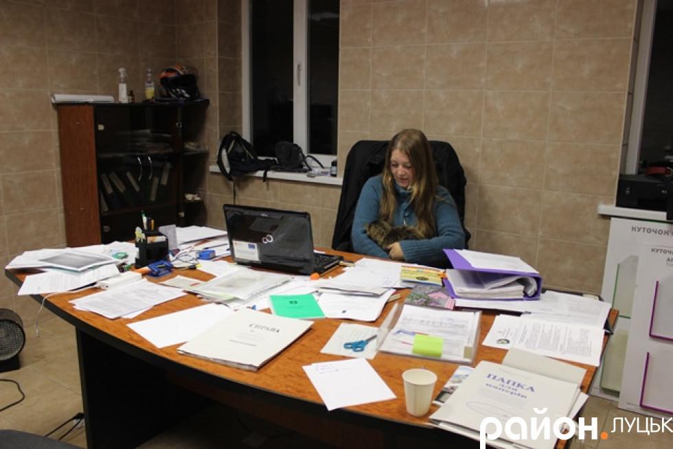 Робочий стіл директорки КП «Ласка»