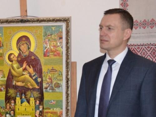 Дмитро Глазунов у Музеї волинської ікони