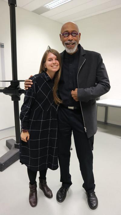 Іра Єрошко разом із викладачем і наставником Робертом Девісом
