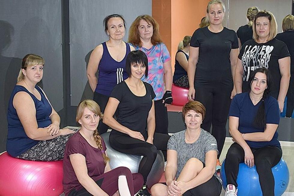 Ольга Філюк (у центрі) зі своєю новою командою