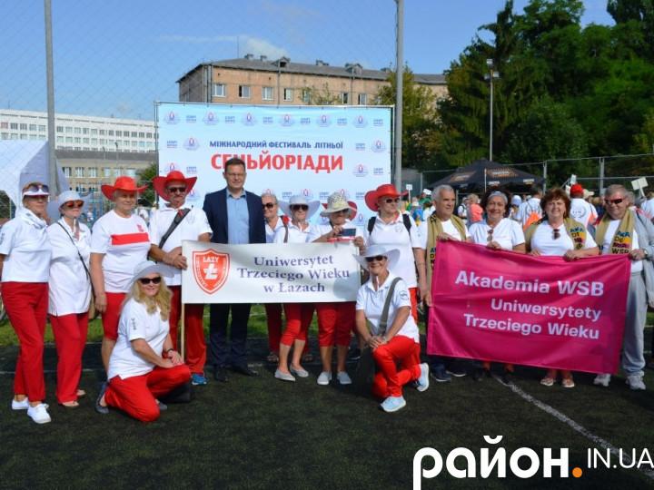 Учасники ІІІ літньої сеньйоріади в Луцьку