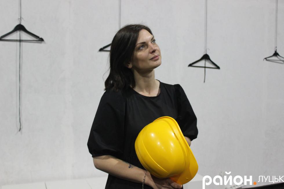 Керівниця мистецького ангару Ольга Валянік