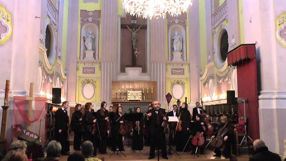 Оркестр у костелі